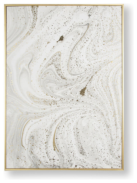"""Grey """"Mable Luxe"""" Framed Printed Canvas"""