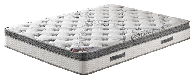 "10"" Pocketed Coil Mattress With Pillow Top, California King."