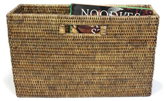Matahari Rattan Slim Magazine Basket View In Your Room Houzz