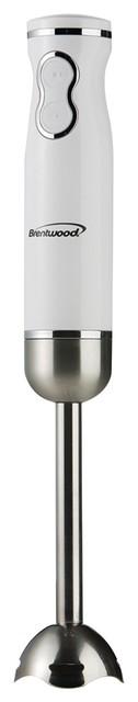 The Brentwood Deluxe 2-Speed Hand Blender, White.
