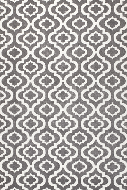 summit h27 modern gray trellis area rug mediterranean 13095 | home design