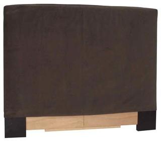 Twin Slipcovered Headboard in Bella Chocolate, King, 80 in. W x 3 in. D x 53 in