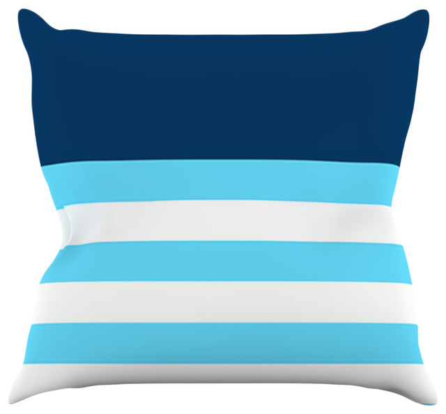 Trebam Quot Nauticki Blue Quot Aqua Throw Pillow Beach Style