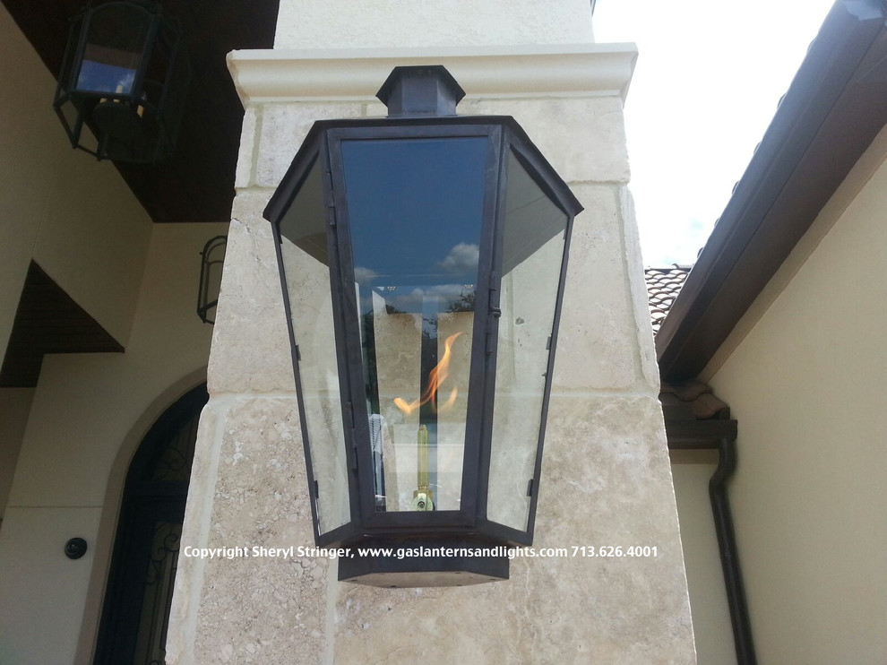 Contemporary Six Sided Gas Lanterns by Sheryl Stringer