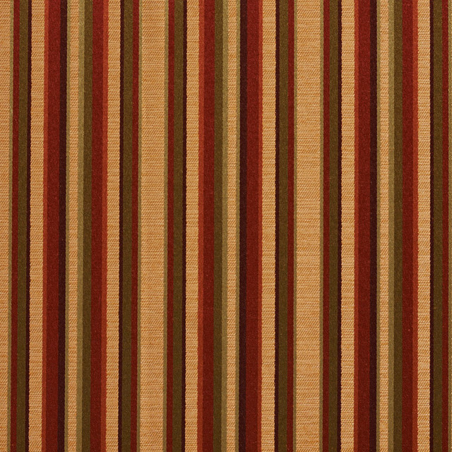 Burgundy Gold Green Shiny Thin Striped Faux Silk