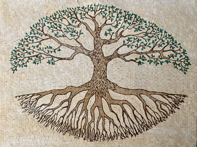 Mosaic Tile Art Tree Of Life