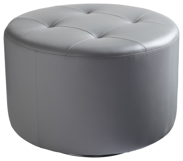 Swell Domani Swivel Ottoman Large Graphite Andrewgaddart Wooden Chair Designs For Living Room Andrewgaddartcom