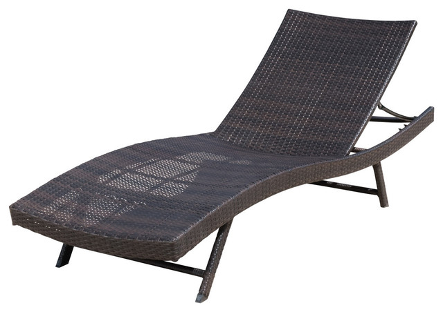 Remarkable Gdf Studio Eliana Outdoor Brown Wicker Chaise Lounge Chair Single Inzonedesignstudio Interior Chair Design Inzonedesignstudiocom