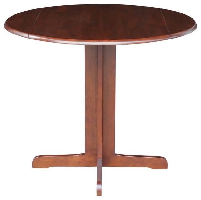 International Concepts 36 Round Dual Drop Leaf Pedestal