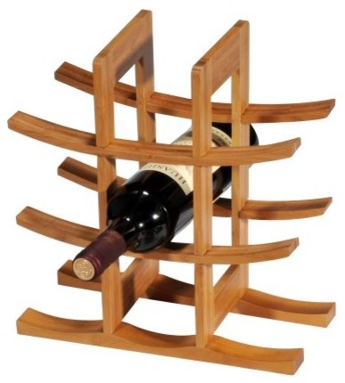 Creative Home Bamboo 9 Bottle Wine Rack