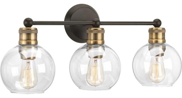 "Progress Lighting P300051 Hansford 3 Light 24-1/2""W Bathroom - Bronze"