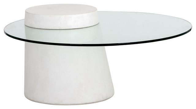 Strange Sunpan 104096 Grange Coffee Table Round Ivory Concrete Creativecarmelina Interior Chair Design Creativecarmelinacom