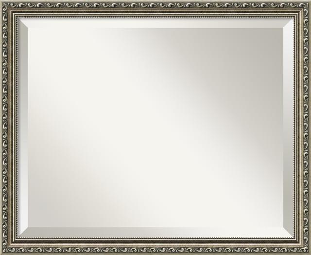 Silver Wall Mirrors parisian silver wall mirror - wall mirrors -amanti art