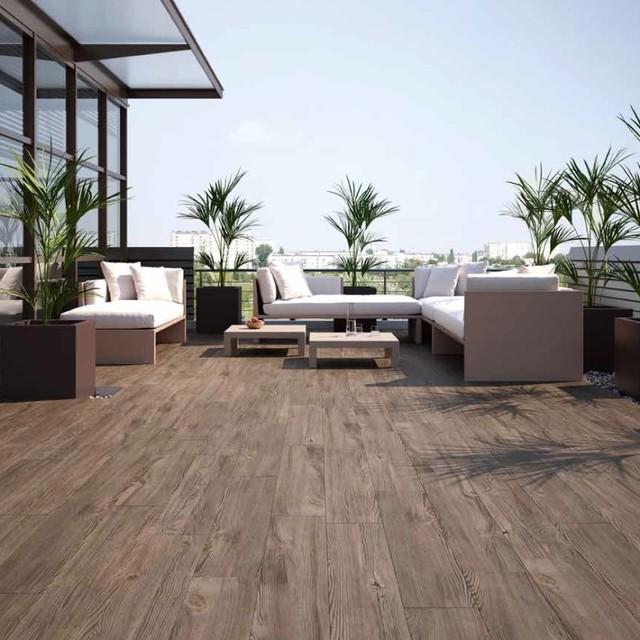 Konstantin Large Tiles Nogal Brown Wood Effect 23 95 Per Sq M Contemporary
