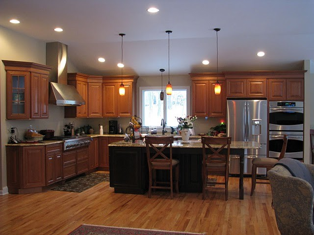 Cherry cabinetry traditional kitchen new york by kitchens by design Kitchen design newtown ct