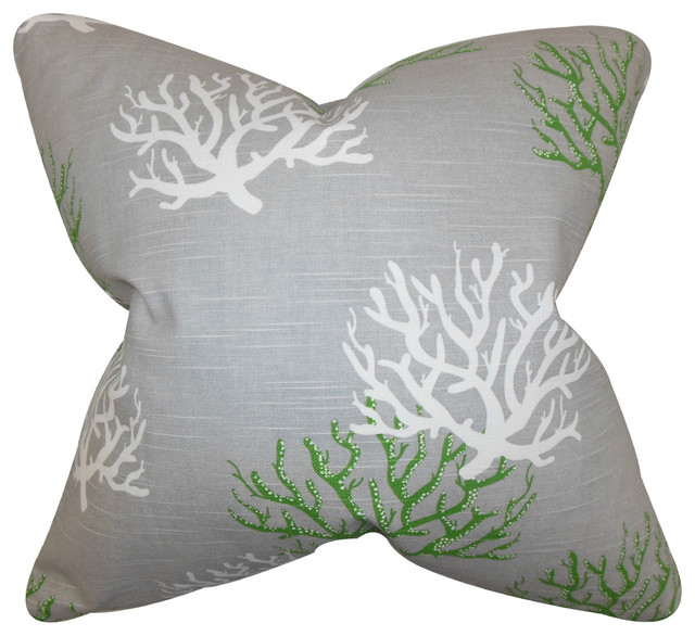 Hafwen Coastal Floor Pillow - Beach Style - Floor Pillows And Poufs - by The Pillow Collection