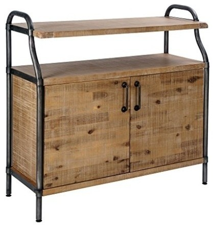 Piper Accent Chest, Light Natural, Gun, Metal