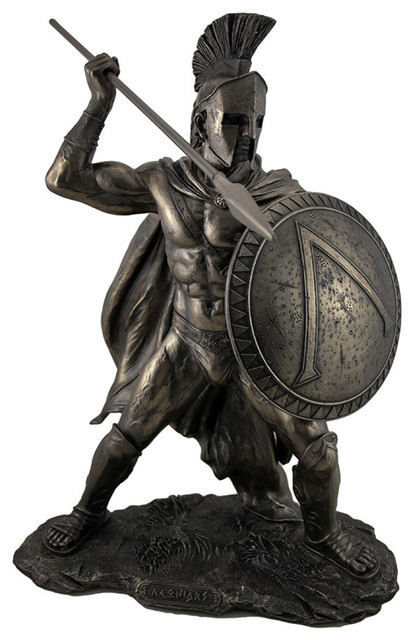 Large Spartan King Leonidas With Sword and Shield Bronzed ...