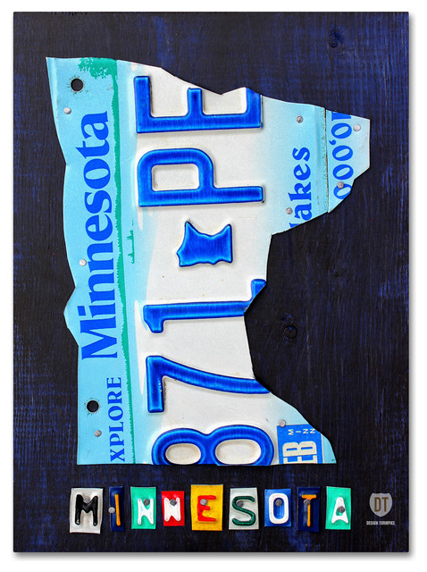 Minnesota License Plate Map\