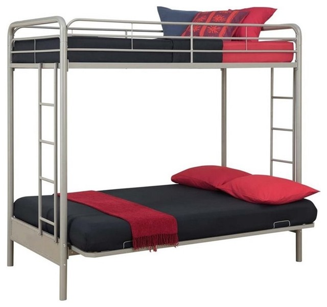 DHP Twin over Full Convertible Futon Bunk Bed With
