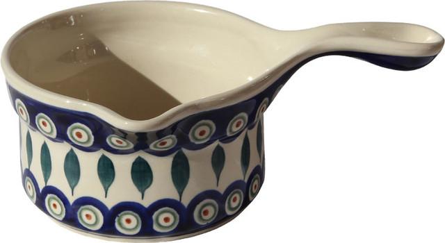 Polish Pottery Saucepan, Pattern Number: 56.