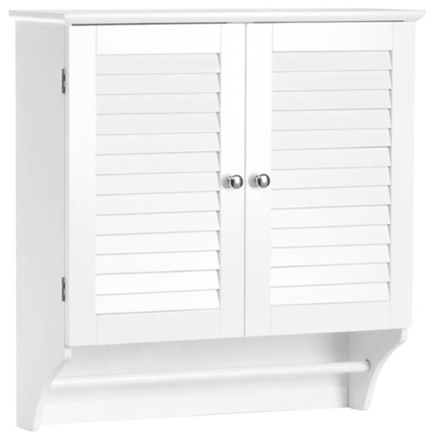 ellsworth 2 door wall cabinet in white traditional