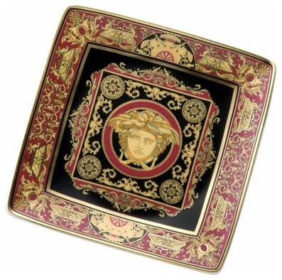 Versace medusa red canape dish traditional serving - Canape versace ...
