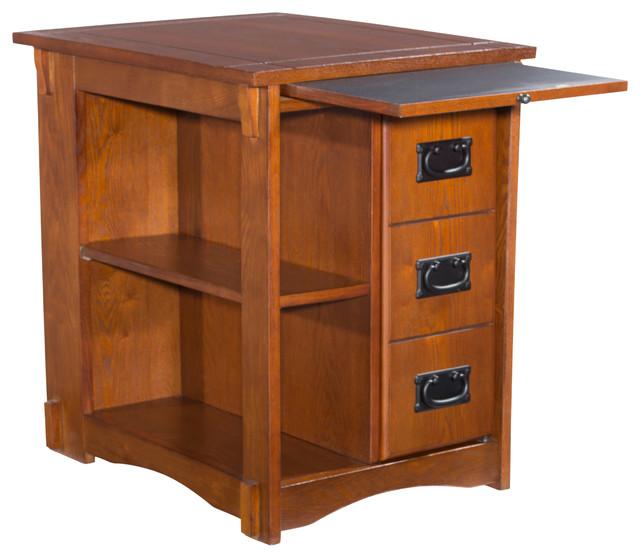 Mission Furniture In Transitional Design: Mission Oak Cabinet Table