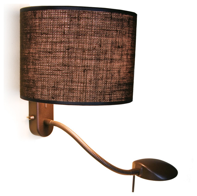 LuxCambra Reading Room Wall Lamp With Reading Light - Contemporary - Wall Sconces - by LuxCambra