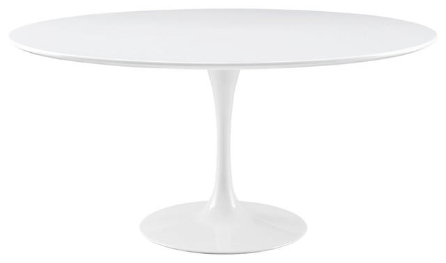 """Lippa 60"""" Round Wood Top Dining Table, White"""