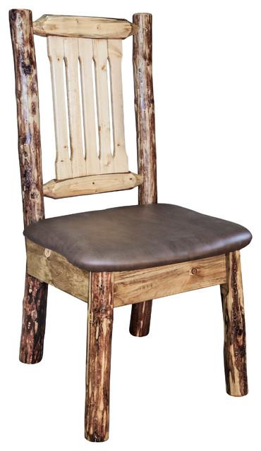 Sierra Side Chair, Brown Seat.