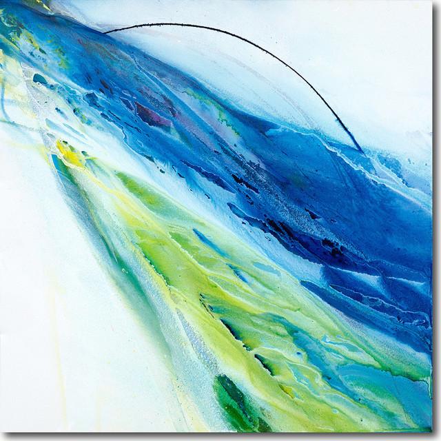 """""""water Sport"""" Artwork By Su Allen, 30""""x30""""."""