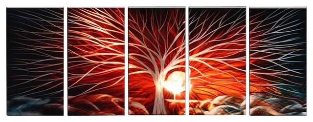 Red Metal Wall Art metal wall art abstract modern contemporary sculpture wall decor