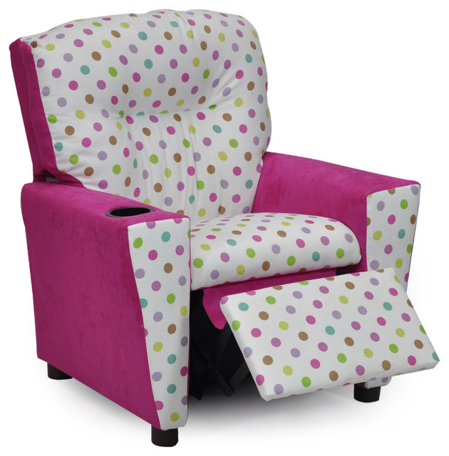 Bubble Gum Suede Kidu0027s Recliner With Cup Holder Spring Pink contemporary- kids-chairs  sc 1 st  Houzz & Bubble Gum Suede Kidu0027s Recliner With Cup Holder - Contemporary ... islam-shia.org