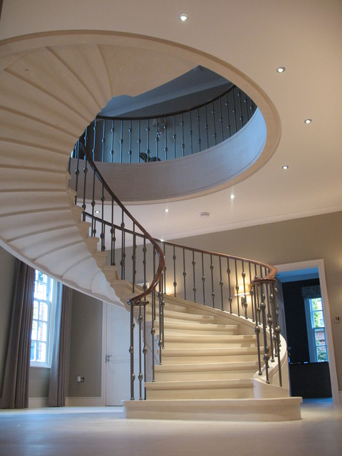 Cantilevered Staircase, Private House, North London Traditional Staircase
