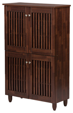 Fernanda Entryway Tall Storage Cabinet, Brown.
