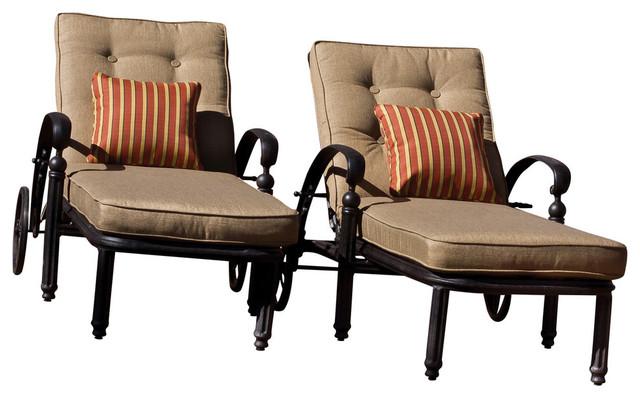 Barcelona Single Chaise Lounge, With Cushion.