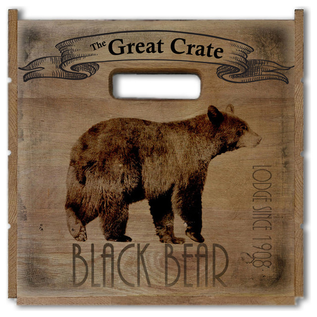 "Black Bear Lodge Great Crate 17.5""x12.5""x11.5""."