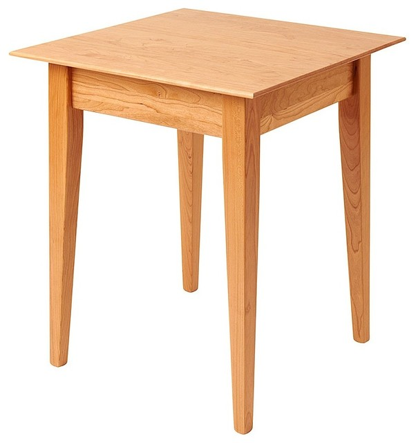 Square Cherry Shaker End Table Side Tables And End Tables By Manchester Wood American Made