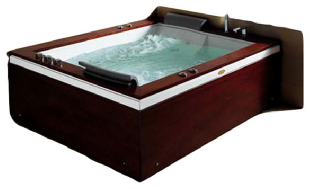 Ambassador Rectangular Drop In Whirlpool Bathtub Contemporary Bathtubs