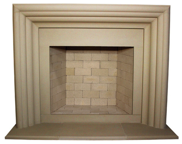 Delano Cast Stone Fireplace Mantel Traditional Mantels By Devinci