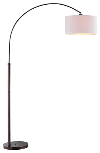 Stein World Archia Arc Black Finish Floor Lamp.