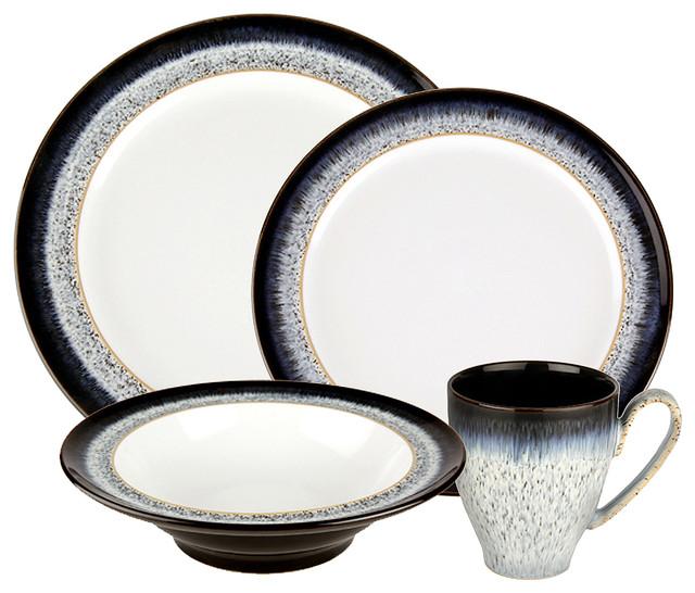 Denby Halo 48 Piece Dinnerware Set Service for 12 contemporary-dinnerware- sets  sc 1 st  Houzz & Denby Halo 48 Piece Dinnerware Set Service for 12 - Contemporary ...