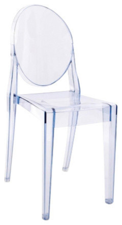 victoria ghost chairs set of 2 transparent light blue - Light Blue Accent Chair