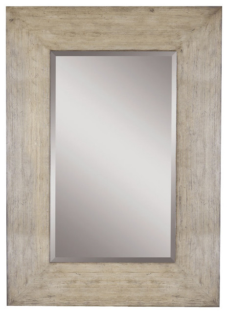 Shop Houzz Uttermost Langford Wide Frame Mirror With