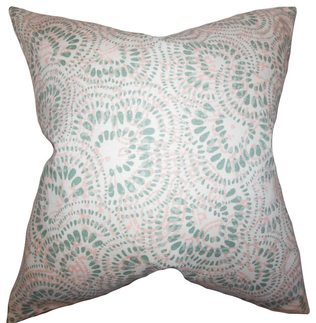 The Pillow Collection Glynis Floral Bedding Sham Pink
