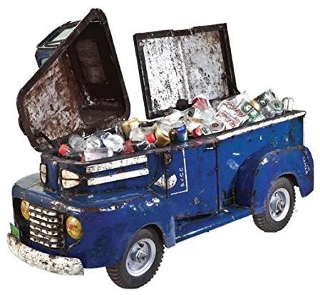 Think Outside Blue Pick Up Truck Metal Cooler