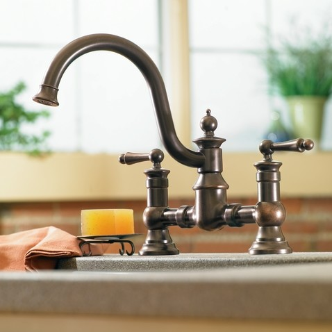 moen bronze kitchen faucets moen waterhill rubbed bronze two handle high arc 20812
