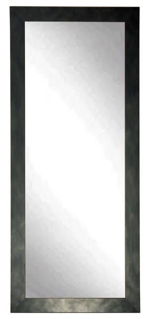 """Clouded Gunmetal Floor Mirror, 32""""x71""""."""