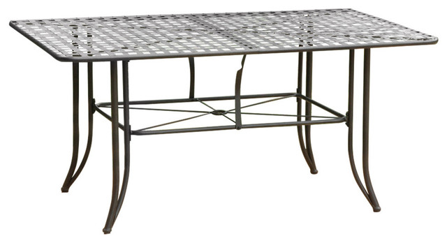 "Mandalay Iron Outdoor 60"" Dining Table,antique Black."